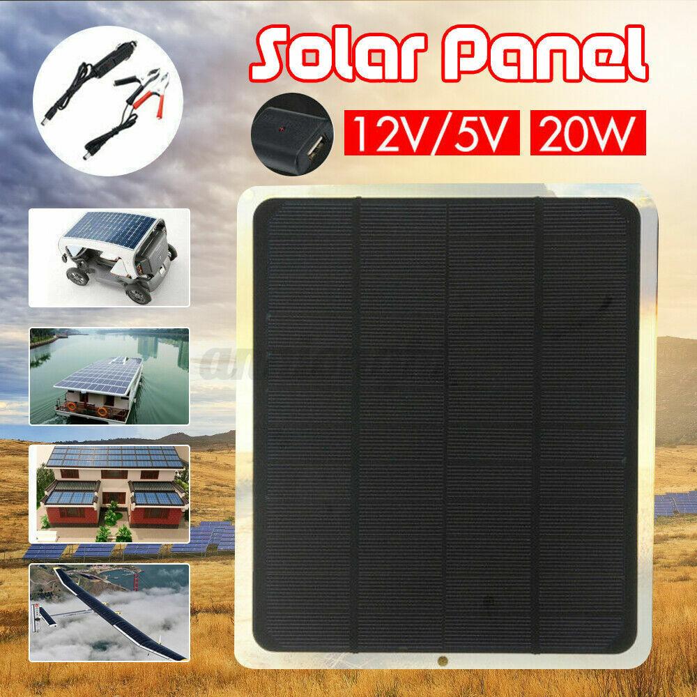 Cargador de batería portátil del panel solar 20W para la autocaravana del teléfo