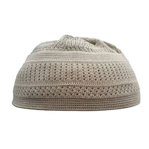 TheKufi Khaki Cotton Stretch-Knit Kufi Hat Skull Cap - Comfortable ... eae84c1969ac