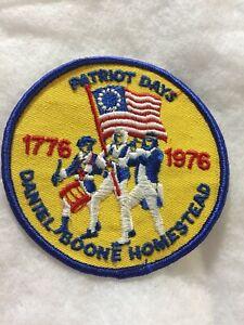 "(rt5) Boy Scouts - Patriot Days @ Daniel Boone Homestead - 1976. 4"" patch"