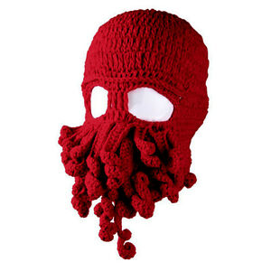 Octopus Winter Warm Knitted Wool Ski Mask Knit Hat Squid Cap Beanie ... 4551a5c4279f