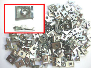 Assorted Box of Speed Spire Fasteners U Clips 6-14 BZP QTY 300 Pieces AT7
