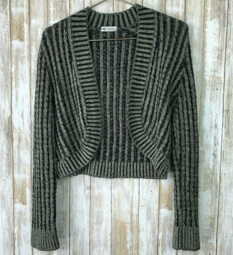 Inis Meain Linen Loose Knit Open Sweater Green Gra
