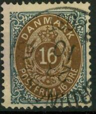 DENMARK - DANIMARCA - 1875 - Cifra e stemma in doppio ovale - Valore in ore