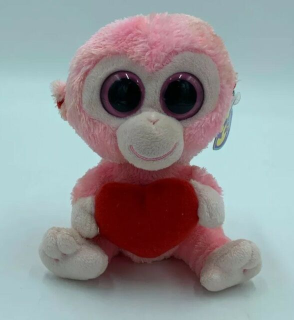 MWMT 6 Inch Ty Beanie Boos ~ JULEP the Monkey with Heart