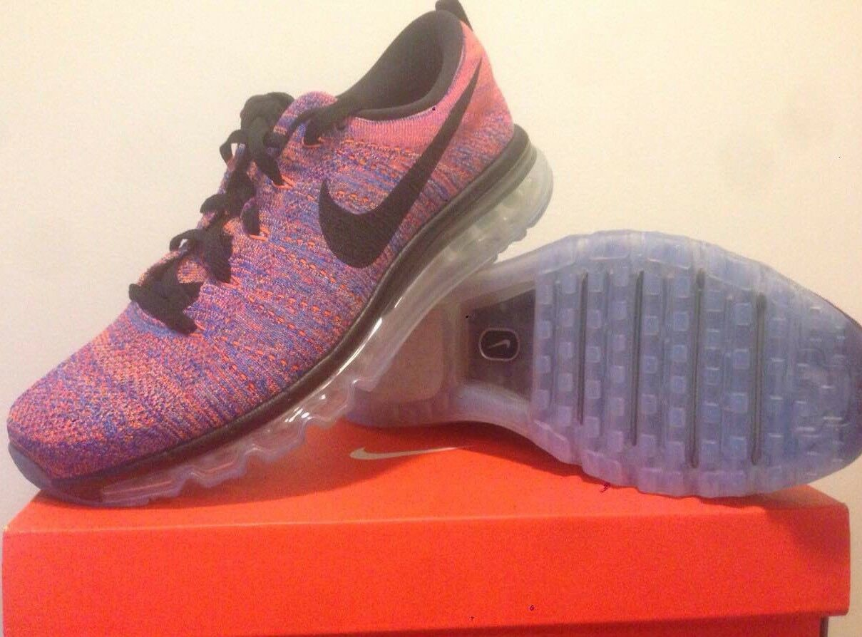 Nike Flyknit Max (multi color ) Mens Us Size 9.5 (no box cover) Retail 220