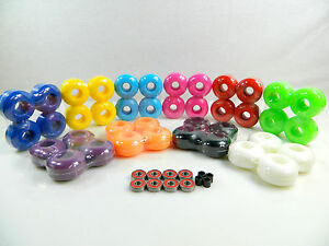 Blank-Pro-Skateboard-52mm-Color-Wheels-ABEC-7-Color-Bearings-Spacers