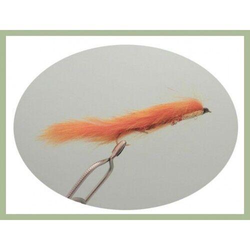 Rear Hook, Fishing Flies Size 10 4 Orange Snake Zonker Snake Flies