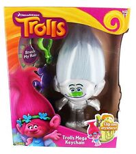"Dreamworks Trolls 9"" Silver Guy Diamond Plush Keychain-Brand New in Factory Pkg!"