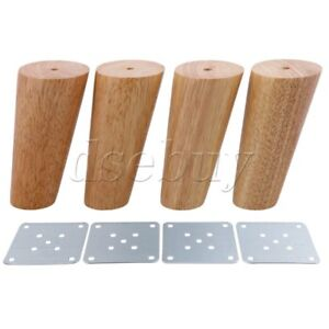 Image Is Loading 4 Pieces 12cm Height Oblique Tapered Wood Furniture