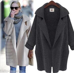 Damen jacke mantel parka strickjacke cardian oversize - Oversize mantel damen ...