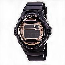 944bd175b08 Casio Baby-G Womens Wrist Watch Digital BG169G-1 Black Rose Gold
