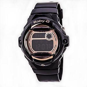 Casio Baby-G Womens Wrist Watch Digital BG169G-1 Black Rose Gold ... cf27cac481