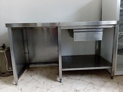 Gastro Tisch Arbeitstisch Gewerbe Küche Edelstahl