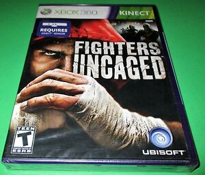 Fighters Uncaged Microsoft Xbox 360 Kinect Factory Sealed Free