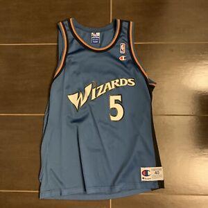sale retailer 88cdc daac0 Details about NBA Washington Wizards Juwan Howard Champion Jersey Size 40  Blue Rose Gold Black