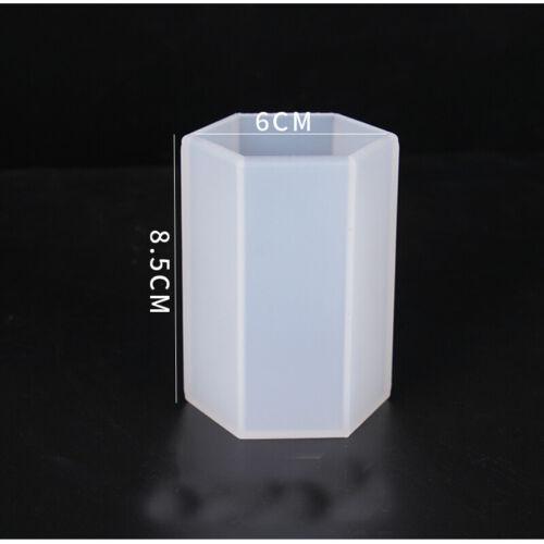 Sechseck Zylinder Harz Gießen Form Silikon Schmuck machen Epoxy Form Handwerk