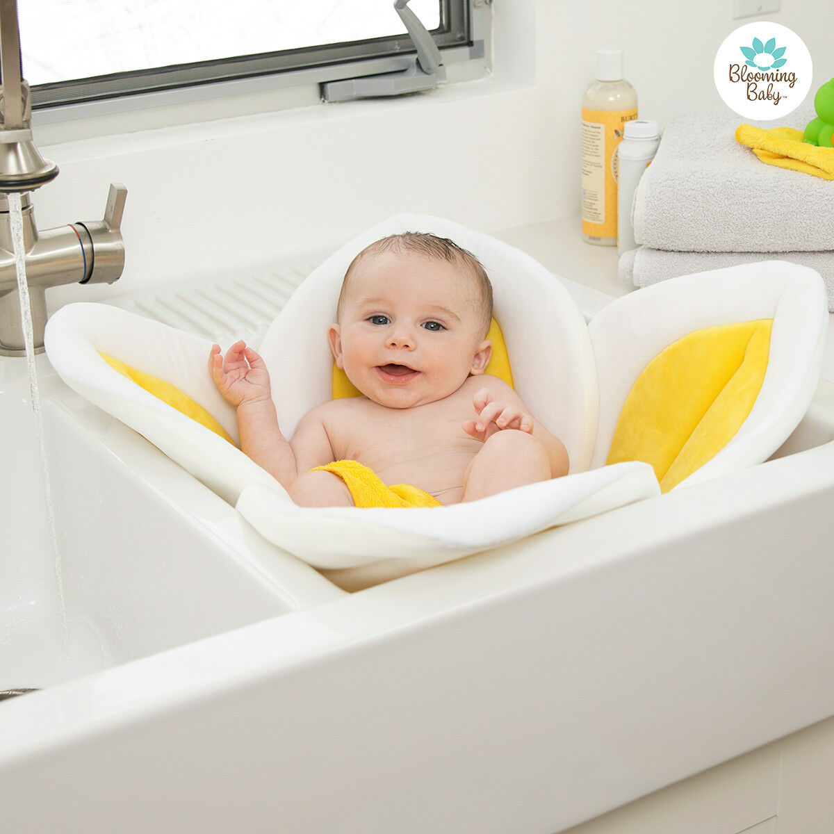 Blooming Bath Lotus Baby Bathing Mat Cushion Flower Yellow | eBay