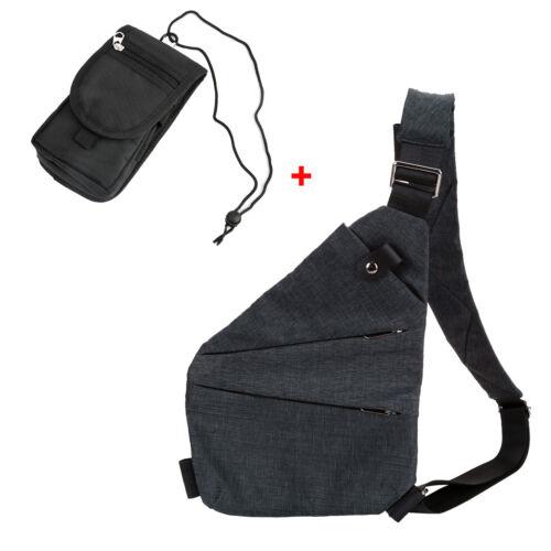 Anti-thief Hidden Security Sling Bag Crossbody Shoulder Armpit Casual Backpack
