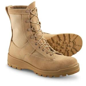 Wellco-ICB-Gore-Tex-Temperate-Cold-Weather-Tan-Combat-Flight-Boots-13R-Regular