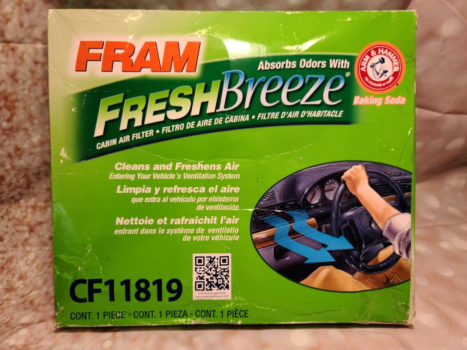 CF10742 Cabin Air Filter fits AC CF177 GM 19130294 Fram Fresh Breeze CF11819