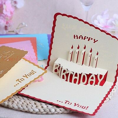 Cute Cake 3D Pop up greeting card for Celebration Birthday Party Invitations