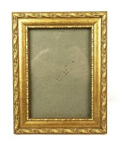 Vintage-Baroque-Style-Ornate-Gold-Gesso-Photo-Picture-Frame-Fits-7-034-x-5-034