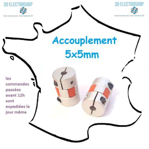 accouplement flexible pour couple élevé 5x5 mm 3d print cnc
