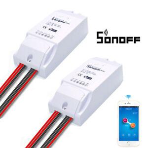 245762ccd12 2 x Sonoff Dual WiFi Wireless Smart Swtich Module Power 16A APP ...