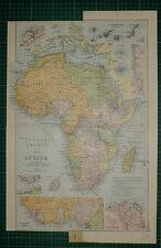1905 ANTIQUE MAP ~ AFRICA ~ DELTA OF THE NILE CANARY ISLANDS EGYPT ALGERIA