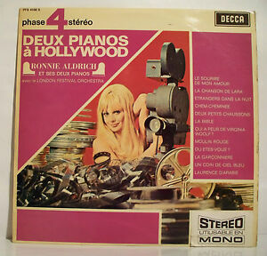 33T-2-PIANOS-A-HOLLYWOOD-Vinyl-LP-12-034-Ronnie-ALDRICH-LONDON-Piano-PHASE-4-STEREO