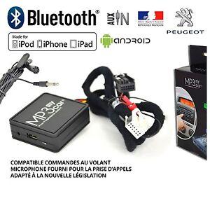 Interface-Bluetooth-Auxiliaire-MP3-Autoradios-Origine-Peugeot-RD4-apres-2006