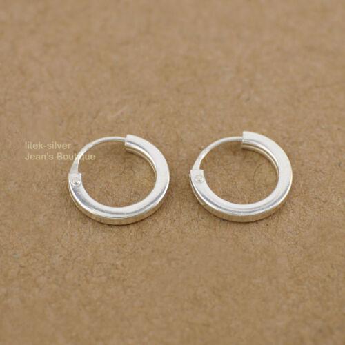 Argent Sterling 925 petit calin Hoop Boucles d/'oreilles minuscules Plain Hoop Homme Femme 9x3mm