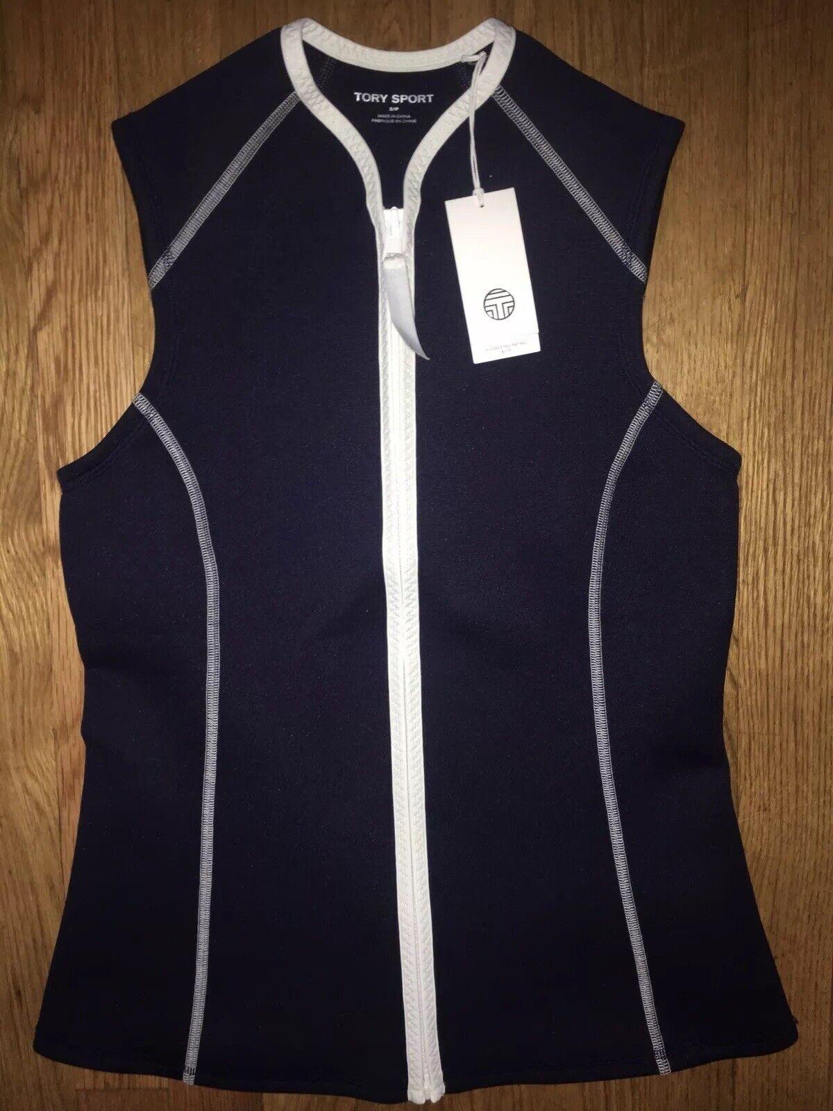175 NEW  NWT TORY BURCH SPORT Neoprene Swim Vest in Tory Navy Size S