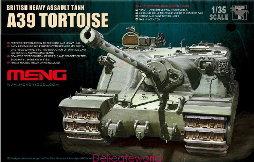 Meng Model 1 35 TS-002 Bristish Heavy Assault Tank A39 Tortoise