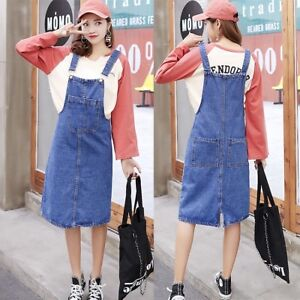 449acaa151ff Image is loading Fashion-Womens-Casual-Denim-Suspender-Skirts-Overalls- Rompers-