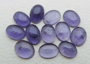 Natural Iolite Gemstone 12X9mm Oval Cabochon Wholesale Lot 40.70Ct 12 Piece S185