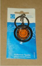 AUTHENTIC ATHENS 2004 KEYCHAIN KEYRING - 776 B.C. OLYMPIA - 2004 A.D. ATHENS