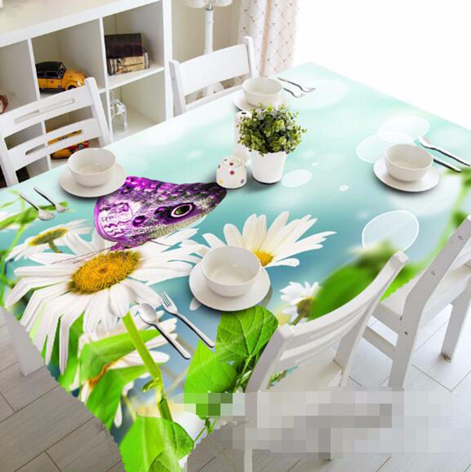 Fleurs 3D 404 Nappe Table Cover Cloth fête d'anniversaire AJ papier peint Royaume-Uni Citron