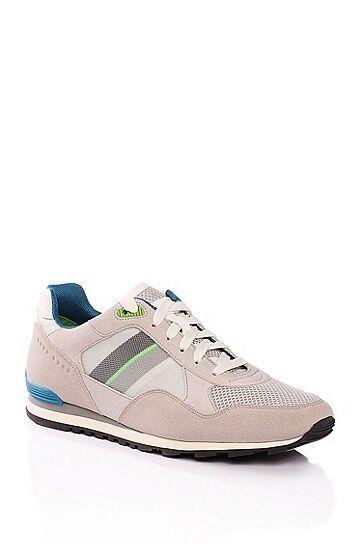 Hugo Boss Run Cool Trainers - Light Grey and bluee