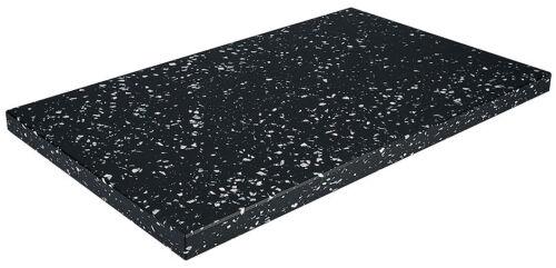 GN 1//1 Schneidbrett aus hochdichtem Polyethylen mit Füßchen grob marmoriert