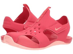 bcb24ea10fd7 Nike Sunray Water Closed Toe Sandals Shoes Pink Coral Girls Size 2 ...