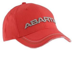 ABARTH Rally Fiat Motorsport Cap Kappe Cappy in Weiß und ROT 2 Stück