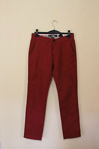 H-amp-M-Relaxed-Slim-Fit-Hose-Chino-Gr-W30-L33-sehr-guter-Zustand
