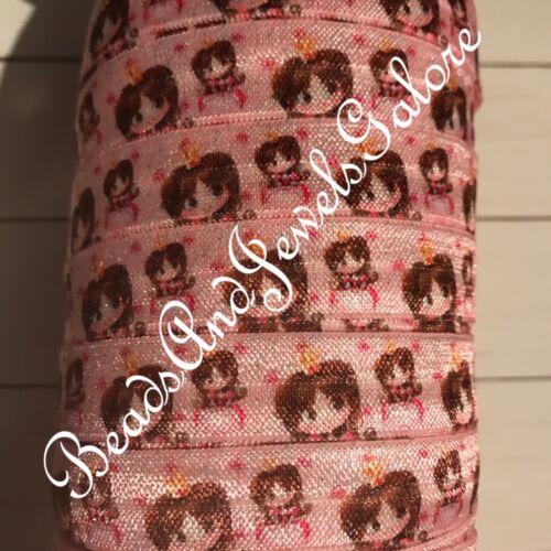 Princess foe inspired princess fold over princess hair ties princess party-5//8