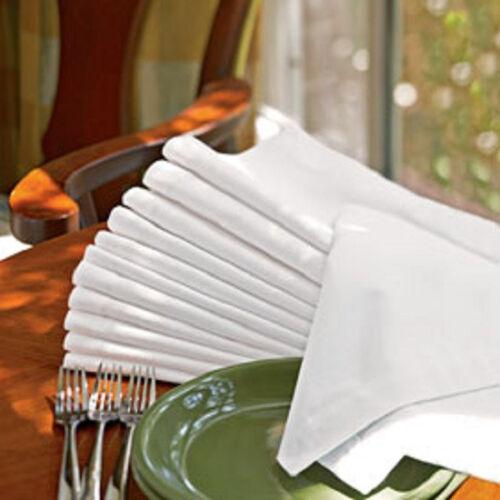 "72 new white large 20/""x20/"" 100/% cotton napkins bright white"