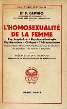 D. F. Caprio = L'HOMOSEXUALITÉ DE LA FEMME 1959