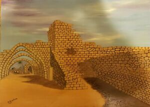 Stunning Western Wall - Jerusalem  Painting Signed