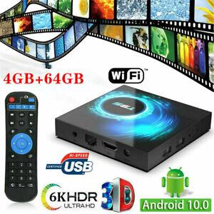 T95 Android 10.0 TV-Box 4GB + 16/32/64GB Quad Core HD HDMI 6K WIFI Media Player