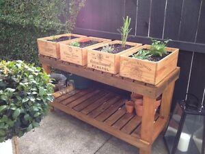 Sensible 1 X 12 Bouteille Grand French Wooden Wine Crate/boîte Idée De Jardin Jardiniere Pot-afficher Le Titre D'origine