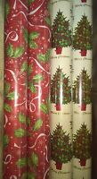 Gift Wrapping Paper Rolls-christmas Tree, Leaves Designs-set Of 4